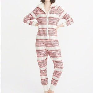 Abercrombie & Fitch Sherpa Lined Hooded Onesie